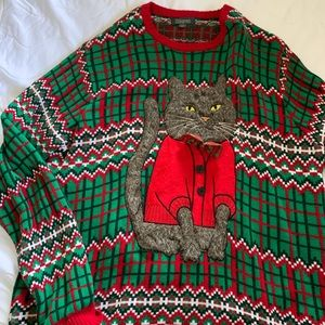 Sweaters - Ugly Cat Christmas Sweater